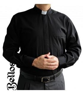 CAMISA CLERGYMAN NEGRA MANGA LARGA