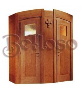 CONFESIONARIO 3 CHAPADO CON MOLDURAS     MACIZAS 215 CM,ALTO 195 ANCHO 100 CM,FO,