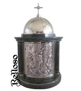 JUEGO CRISMERAS 935 ESTUCHE METACRILATO  JARRITAS METAL PLATEADO