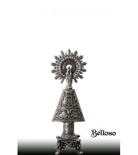 Virgen del Pilar plata de 8 cm.