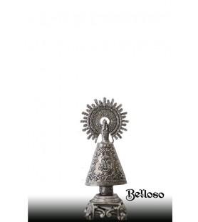Vrgen del Pilar plata en 5 cm.