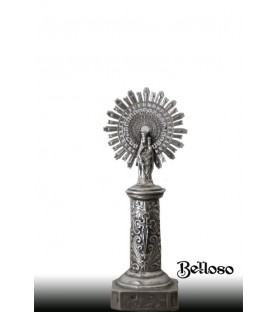 Virgen del pilar plata en 7 cm.