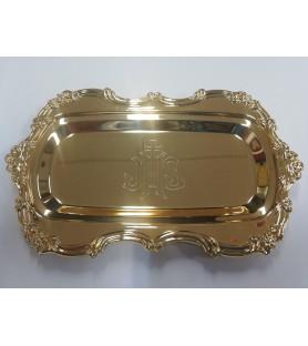 Bandeja de comunión 64 metal dorado