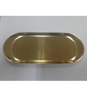 Bandeja comunión 62 acero dorado
